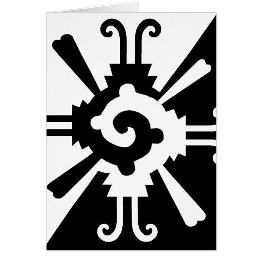 Hunab Ku-Black and White Card