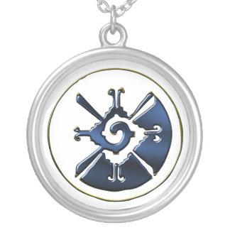 Hunab Ku Silver Plated Necklace