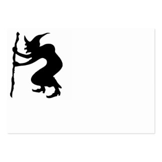 HUNCHBACK HALLOWEEN WITCH LARGE BUSINESS CARD