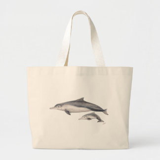 Hunchbacked dolphin of Australia Large Tote Bag