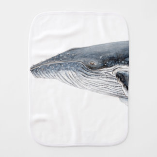 Hunchbacked whale - yubarta - picture burp cloth