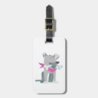 Hund Knochen dog bone Luggage Tag
