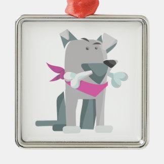 Hund Knochen dog bone Metal Ornament