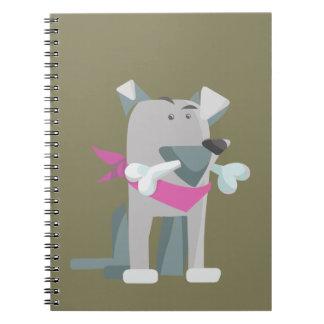 Hund Knochen dog bone Notebook