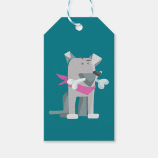 Hund Knochen dog bone Pack Of Gift Tags