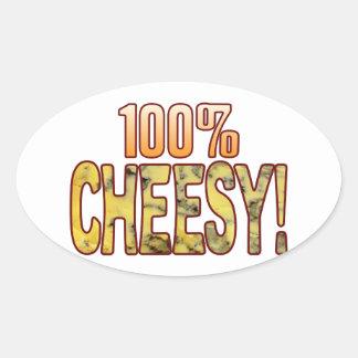 Hundred Blue Cheesy Oval Sticker
