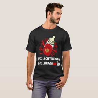 Hundred Percent Montenegro Awesome Country Pride T-Shirt