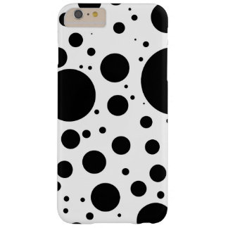 Hundreds of Black Dots and Circles in Varying Size Barely There iPhone 6 Plus Case
