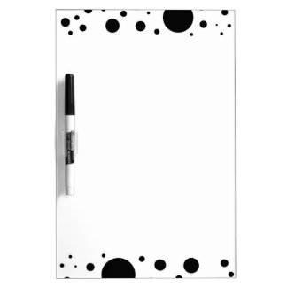 Hundreds of Black Dots and Circles in Varying Size Dry Erase Board