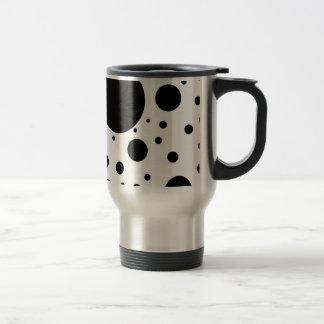 Hundreds of Black Dots and Circles in Varying Size Travel Mug