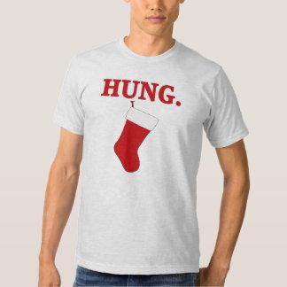 HUNG Funny Men's Christmas T-shirt