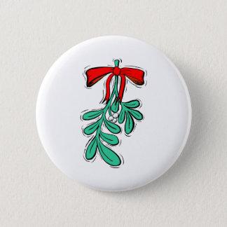 Hung Mistletoe 2 Inch Round Button