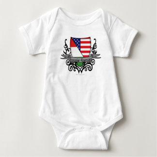 Hungarian-American Shield Flag Baby Bodysuit