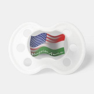 Hungarian-American Waving Flag Baby Pacifiers