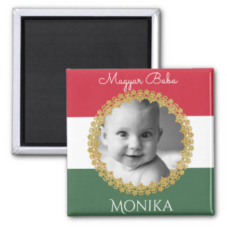 Hungarian Baby w/Photo & Name Magnet