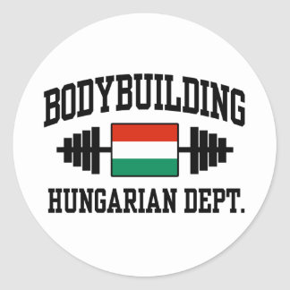 Hungarian Bodybuilder Round Sticker
