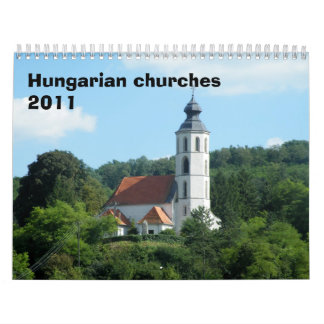 Hungarian churches 2011 wall calendars