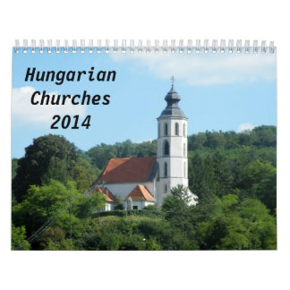 Hungarian churches 2014 wall calendar