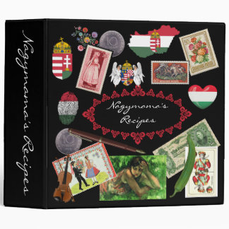 Hungarian Collage w/Personalized Name 3 Ring Binder