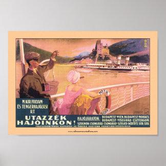 Hungarian Danube Ferry Poster