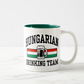 Hungarian Drinking Team Two-Tone Coffee Mug