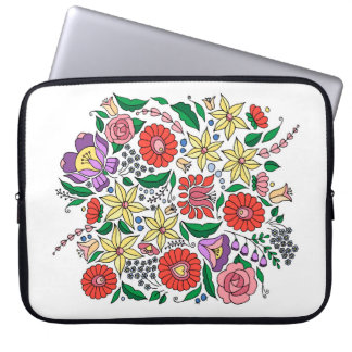 Hungarian embroidery inspired laptop sleeve