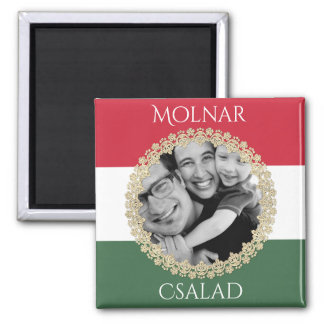Hungarian Family w/Photo & Name Magnet