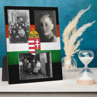Hungarian Family w/Three Photos Plaque
