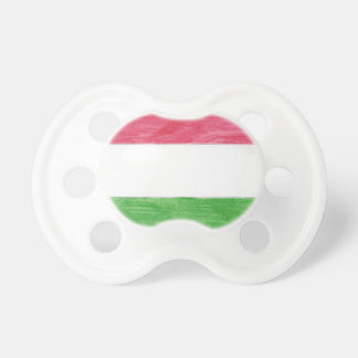 Hungarian Flag Baby Pacifiers
