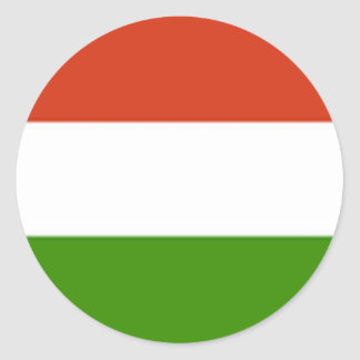 Hungarian Flag Classic Round Sticker