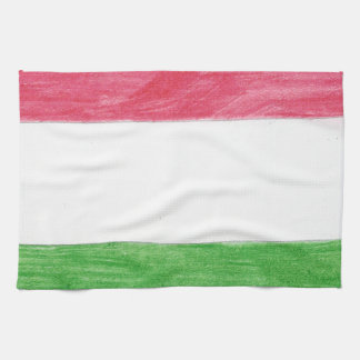 Hungarian Flag Kitchen Towels