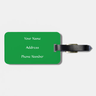 Hungarian flag luggage tag