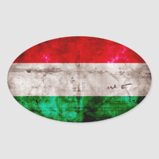 Hungarian Flag Oval Sticker
