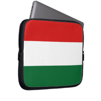 Hungarian Flag Red White Green Laptop Sleeve