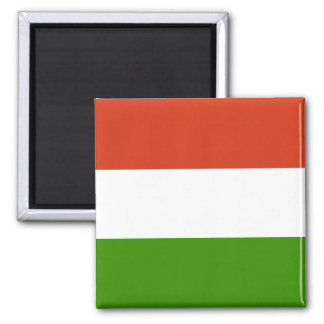Hungarian Flag Square Magnet