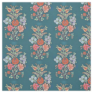 Hungarian flowers fabric