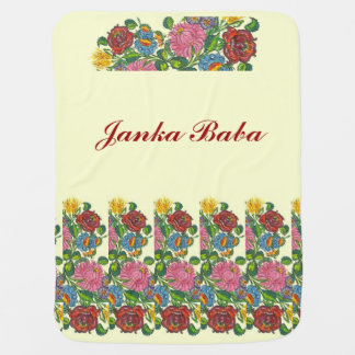 Hungarian flowers for  Janka Baba Baby Blanket