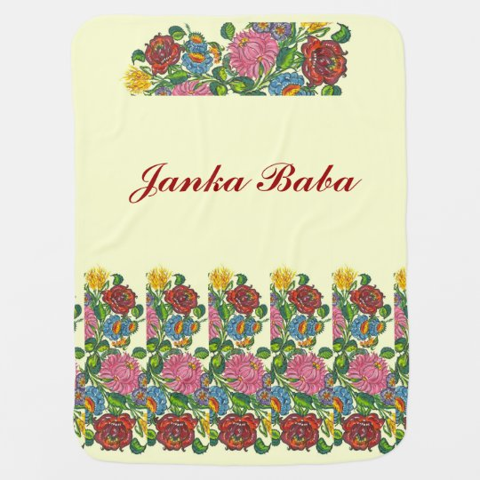 Hungarian flowers for  Janka Baba Baby Blankets
