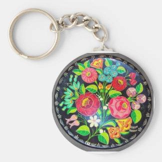 Hungarian Flowers Keychain