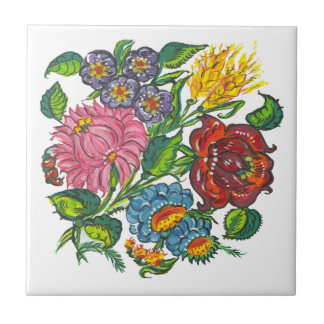 Hungarian flowers tile
