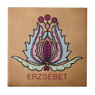 Hungarian Folk Art Tile