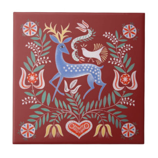 Hungarian Folk Art Tile
