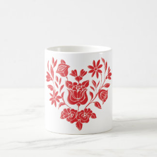 Hungarian folk motive coffee mug