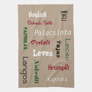 Hungarian Foods Kitchen Towel