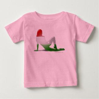 Hungarian Girl Silhouette Flag Shirts