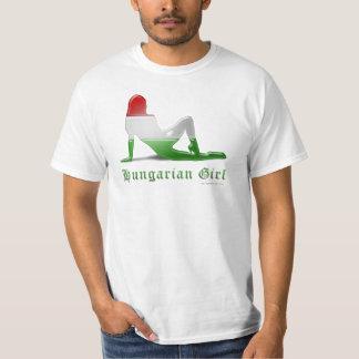 Hungarian Girl Silhouette Flag T-Shirt