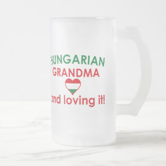 Hungarian Grandma - Loving it Frosted Glass Beer Mug