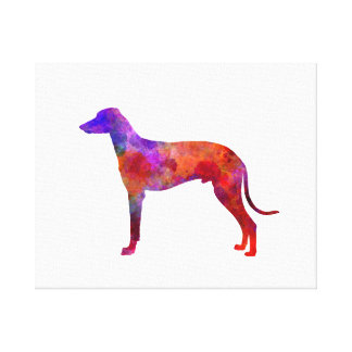 Hungarian Greyhound in watercolor Canvas Print