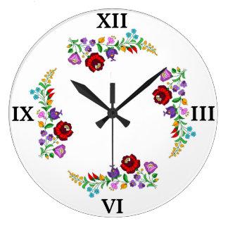 Hungarian Kalocsa Large Clock