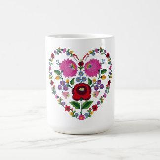 Hungarian Kalocsai heart Coffee Mug